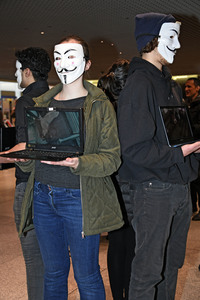 22.01.2019<br>Anonymous for the Voiceless - Aktion in München