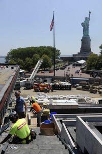 02.07.2018<br>Pressetermin  zu den Bauarbeiten am Statue of Liberty Museum in New York