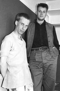 24.04.1984<br />Photoshooting mit Blancmange in London