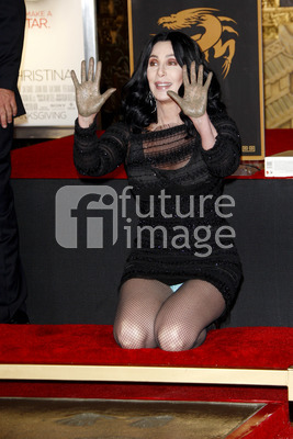 Hand and Footprint Ceremony mit Cher in Los Angeles